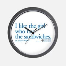 I Like the Girl Who Has the Sandwiches Wall Clock