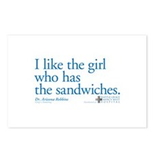 I Like the Girl Who Has the Sandwiches Postcards (