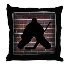 Hockey Goalie Throw Pillow