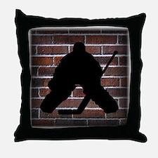 Hockey Goalie Throw Pillow