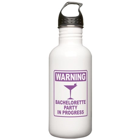 Warning Bachelorette Party Stainless Water Bottle