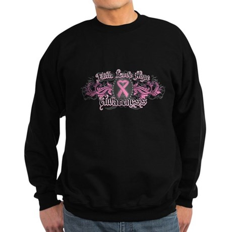 Breast Cancer FaithLoveHope Sweatshirt (dark)