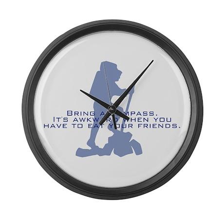 Bring a compass Large Wall Clock