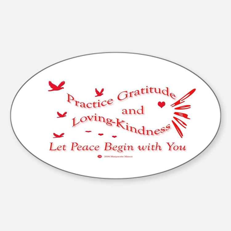 Gratitude and Loving-Kindness Oval Decal