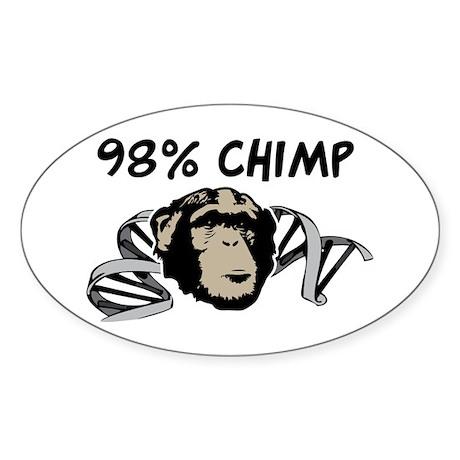 98% Chimp Sticker (Oval 10 pk)