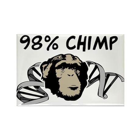 98% Chimp Rectangle Magnet (100 pack)