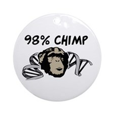 98% Chimp Ornament (Round)