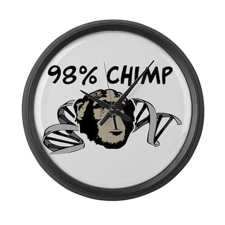 98% Chimp Large Wall Clock