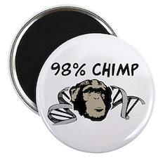 "98% Chimp 2.25"" Magnet (100 pack)"