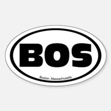 Boston, Massachusetts Oval Bumper Decal