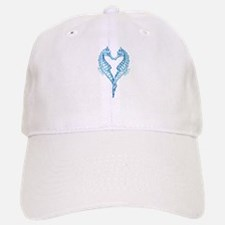 2 blue seahorses together Baseball Baseball Cap