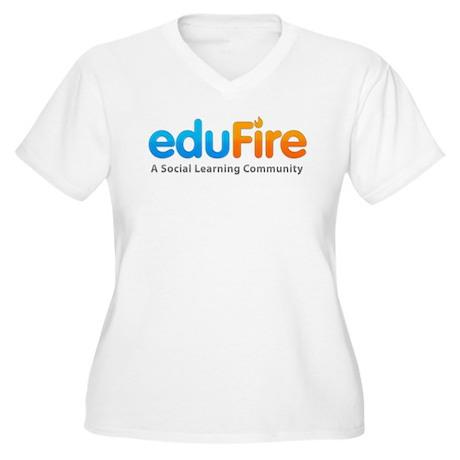 EduFire Women's Plus Size V-Neck T-Shirt
