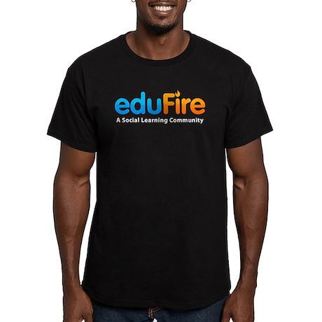 EduFire Men's Fitted T-Shirt (dark)