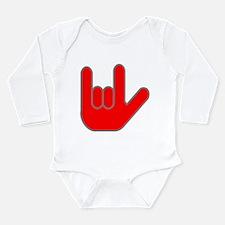 I Love You Long Sleeve Infant Bodysuit