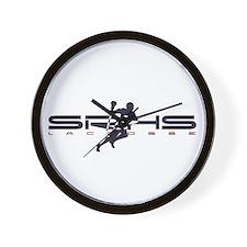 Cute High school lacrosse Wall Clock