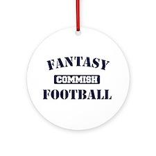 Fantasy Football Commish Ornament (Round)