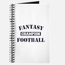 Fantasy Football Champion Journal