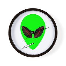 Stoned Alien Wall Clock