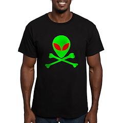Alien Skull and Bones Men's Fitted T-Shirt (dark)