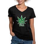 iPot Women's V-Neck Dark T-Shirt