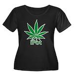 iPot Women's Plus Size Scoop Neck Dark T-Shirt