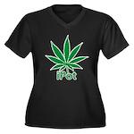 iPot Women's Plus Size V-Neck Dark T-Shirt