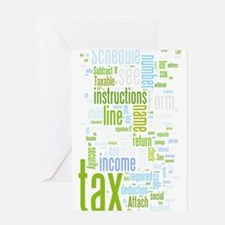 TaxWordle2 Greeting Cards