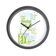 Cute Tax form Wall Clock