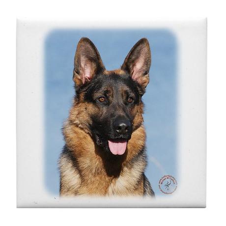 German Shepherd Dog 9Y554D-150 Tile Coaster