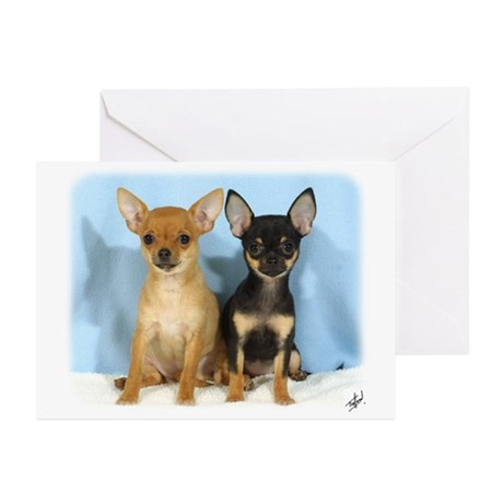 Chihuahuas 9W079D-011 Greeting Cards (Pk of 20)