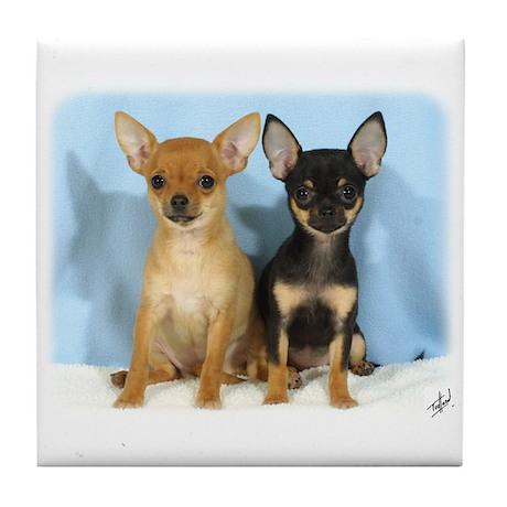 Chihuahuas 9W079D-011 Tile Coaster