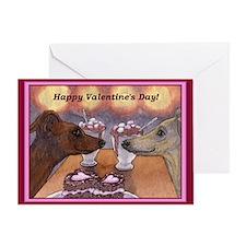 Cute My greyhound Greeting Card