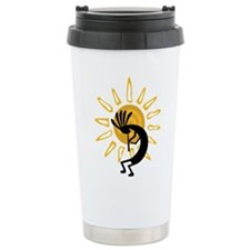 Hopi Kokopelli Gold Travel Coffee Mug