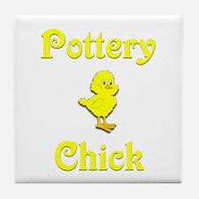 Pottery Chick Tile Coaster