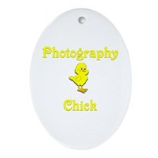Photography Chick Ornament (Oval)