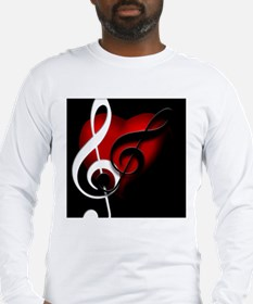 Heart and Clefs Apparel Long Sleeve T-Shirt