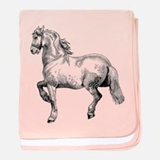 Horse Art IIlustration baby blanket