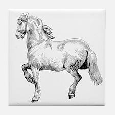 Horse Art IIlustration Tile Coaster