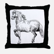 Horse Art IIlustration Throw Pillow