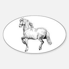 Horse Art IIlustration Sticker (Oval)