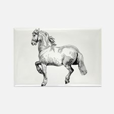 Horse Art IIlustration Rectangle Magnet