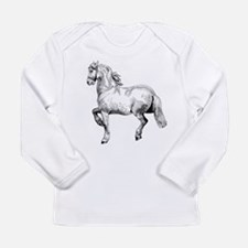 Horse Art IIlustration Long Sleeve Infant T-Shirt
