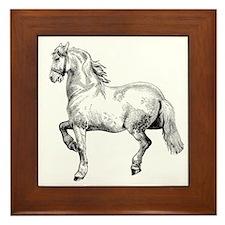 Horse Art IIlustration Framed Tile