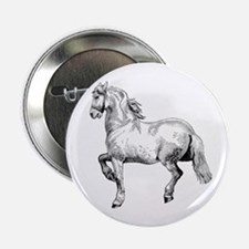 "Horse Art IIlustration 2.25"" Button"