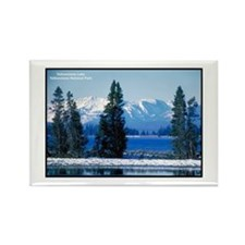 Yellowstone National Park Lake Rectangle Magnet