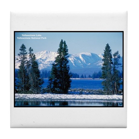 Yellowstone National Park Lake Tile Coaster