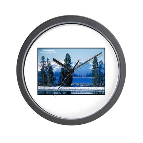 Yellowstone National Park Lake Wall Clock