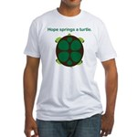 Hope Springs a Turtle Fitted T-Shirt