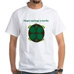 Hope Springs a Turtle White T-Shirt