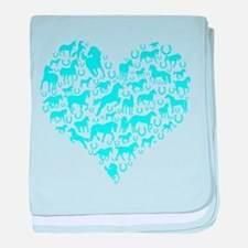Horse Heart Art baby blanket